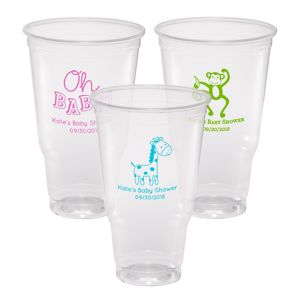 Personalized Baby Shower Plastic Party Cups 32oz