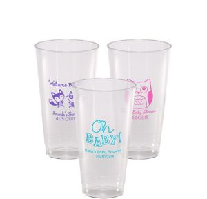 Personalized Baby Shower Hard Plastic Cups 16oz