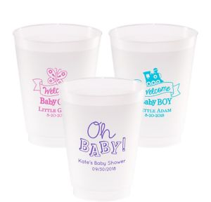 Personalized Baby Shower Frosted Plastic Shatterproof Cups 20oz
