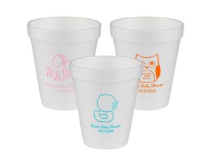 Personalized Baby Shower Foam Cups 8oz