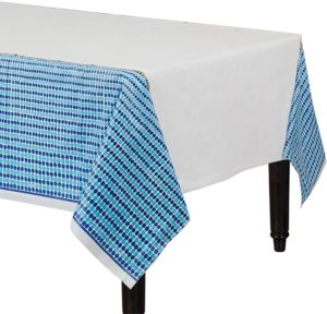 Indigo Dots Table Cover