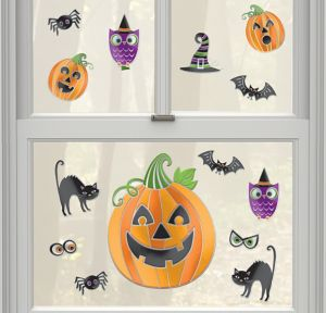 Halloween Cling Decals 14ct