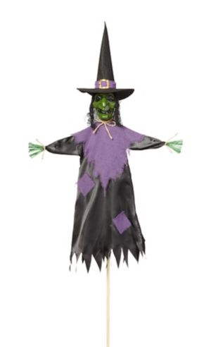 Giant Witch Scarecrow Yard Stake