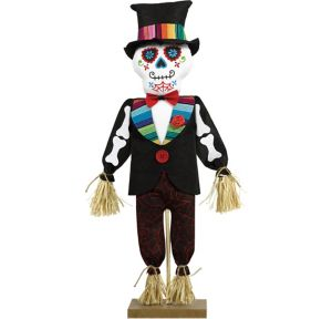 Standing Day of the Dead Scarecrow Decoration