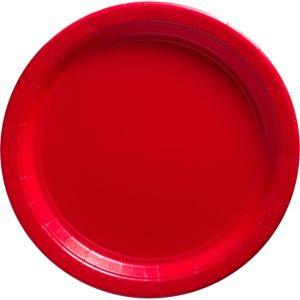 Big Party Pack Red Paper Dinner Plates 50ct