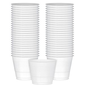 Big Party Pack White Plastic Cups 50ct