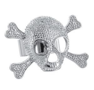 Adjustable Skull & Crossbones Ring