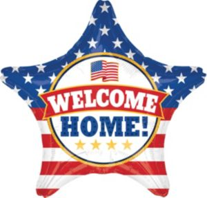 Giant Patriotic Welcome Home Star Balloon