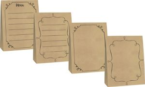 Large Kraft Paper Tent Cards 4ct