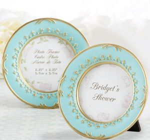 Gold & Teal Victorian Photo Frame Place Card Holder