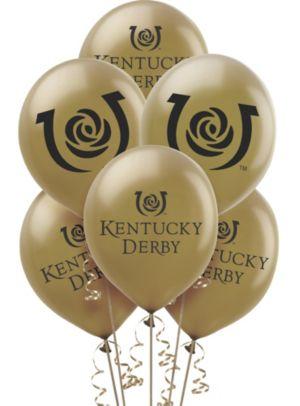 Gold Kentucky Derby Balloons 10ct