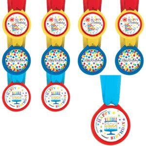 Rainbow Chevron Birthday Award Medals 24ct