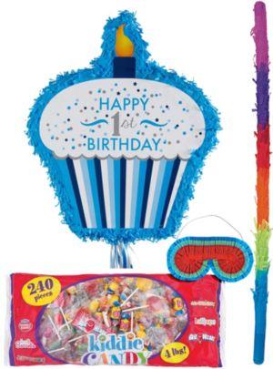 Blue Cupcake 1st Birthday Pinata Kit