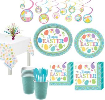 Egg-citing Easter Tableware Kit for 8 Guests