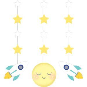 Moon & Stars String Decorations 3ct
