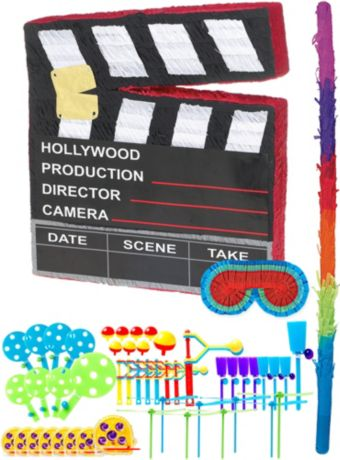 Movie Scene Marker Pinata Kit with Favors
