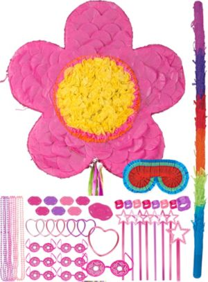 Pink Flower Pinata Kit with Favors