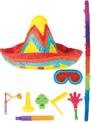 Sombrero Pinata Kit with Favors