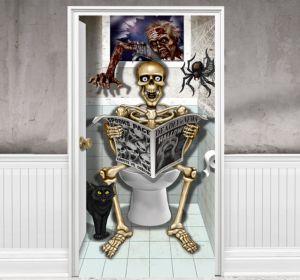 Scary Bathroom Door Cover