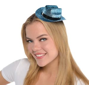 Turquoise Glitter Mini Cowboy Hat
