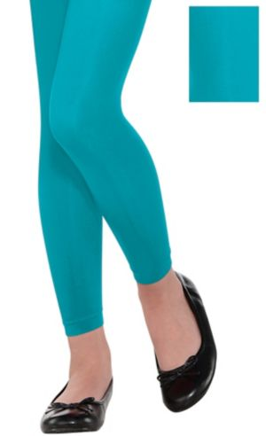 Child Turquoise Footless Tights