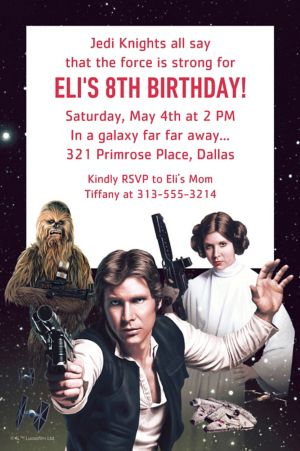 Custom Star Wars Invitation