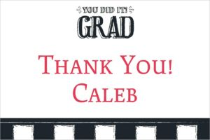 Custom Chalk Hooray Graduation Thank You Note