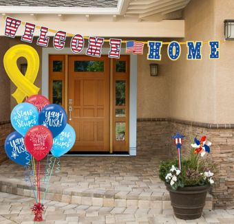 Patriotic welcome home entryway decorating kit party city for Patriotic welcome home decorations