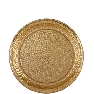 Gold Hammered Serving Tray