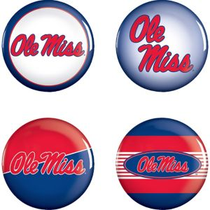 Ole Miss Rebels Buttons 4ct