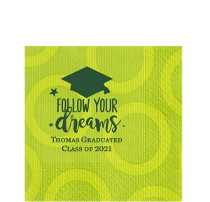 Personalized Graduation Circles Lunch Napkins