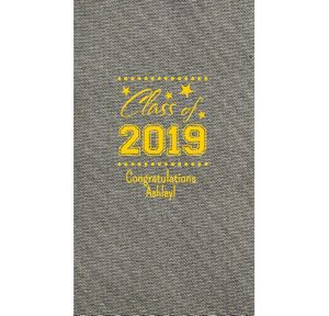 Personalized Graduation Tweed Print Guest Towels