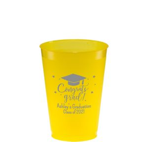 Personalized Graduation Frosted Plastic Shatterproof Cups 12oz
