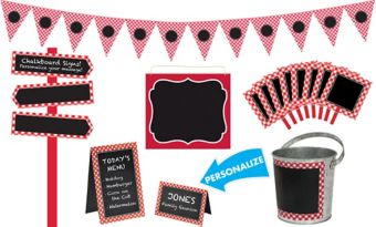 Picnic Party Red Gingham Personalized Decorating Kit