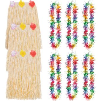 Adult Rainbow Luau Costume Accessory Kit for 8 Guests
