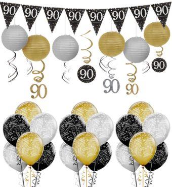 90th Birthday Sparkling Celebration Decorating Kit