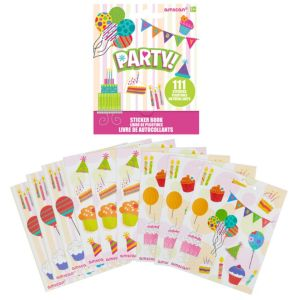 Party Sticker Book 9 Sheets
