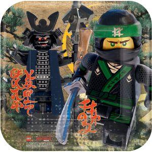 The Lego Ninjago Movie Lunch Plates 8ct