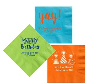 Personalized Birthday Lunch Napkins