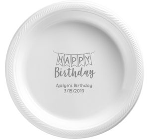 Personalized Birthday Plastic Dinner Plates