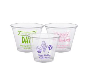 Personalized Birthday Plastic Party Cups 9oz