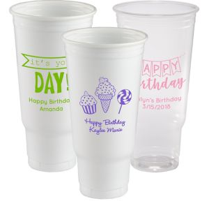 Personalized Birthday Plastic Party Cups 44oz
