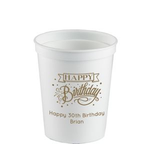 Personalized Birthday Plastic Stadium Cups 16oz
