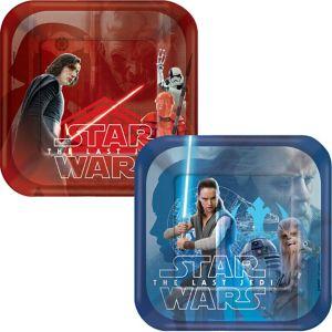 Star Wars 8 The Last Jedi Dessert Plates 8ct