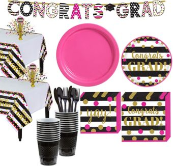 Confetti Graduation Tableware Kit for 36 Guests