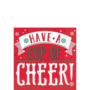 Cup of Cheer Beverage Napkins 16ct