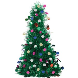 3D Colorful Tinsel Christmas Tree Decoration