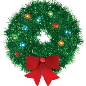 Mini 3D Tinsel Wreath Decoration