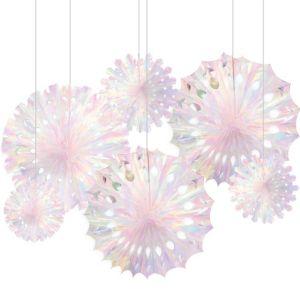 Iridescent Snowflake Decorations 3ct