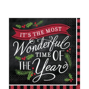 Most Wonderful Time Lunch Napkins 36ct